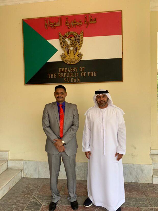 زيارة سفير دولة الامارات العربية للسفارة السودانية