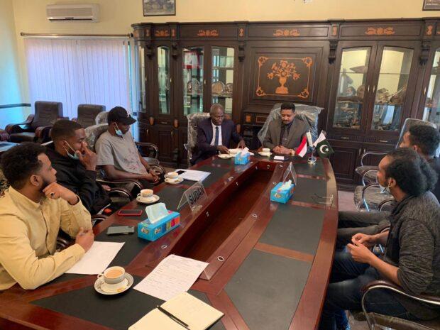 اجتماع مع ممثلين للطلاب بباكستان: